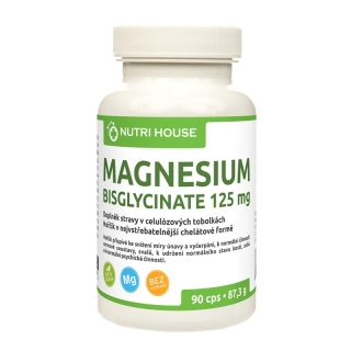 Magnesium bisglycinate 125 mg 90 cps.